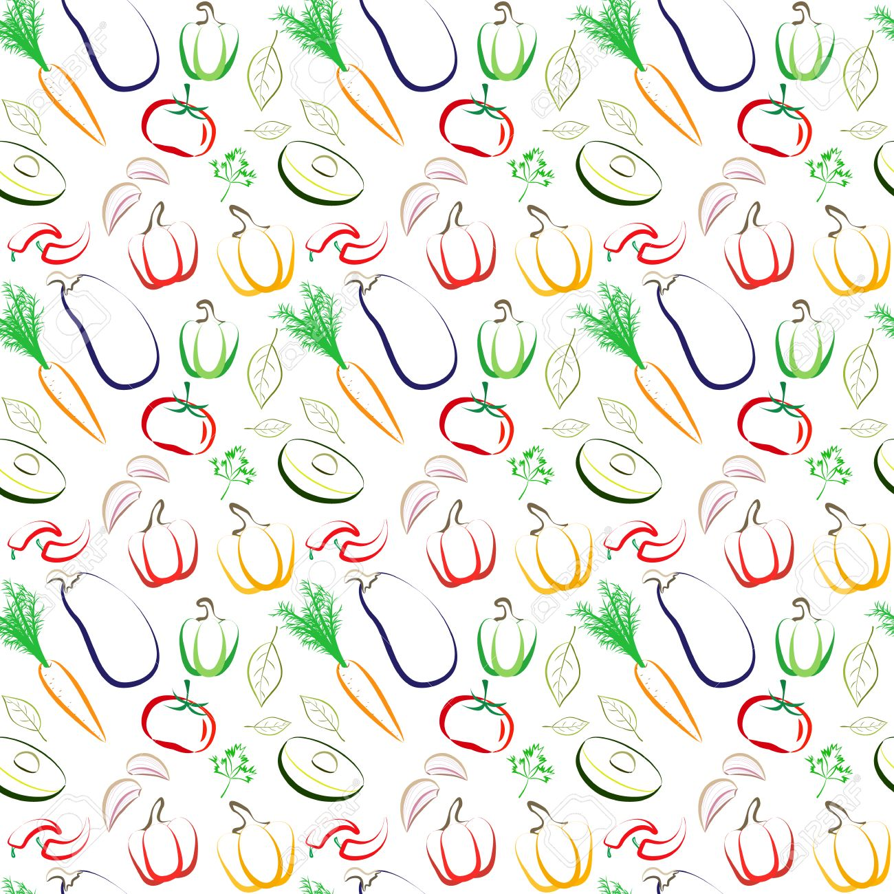 Scrapbook paper cooking - Unique Modern Line Drawing Background For Web Wallpapers Textile Wrapping Paper And Digital Scrapbook Cooking Healthy Eating Theme