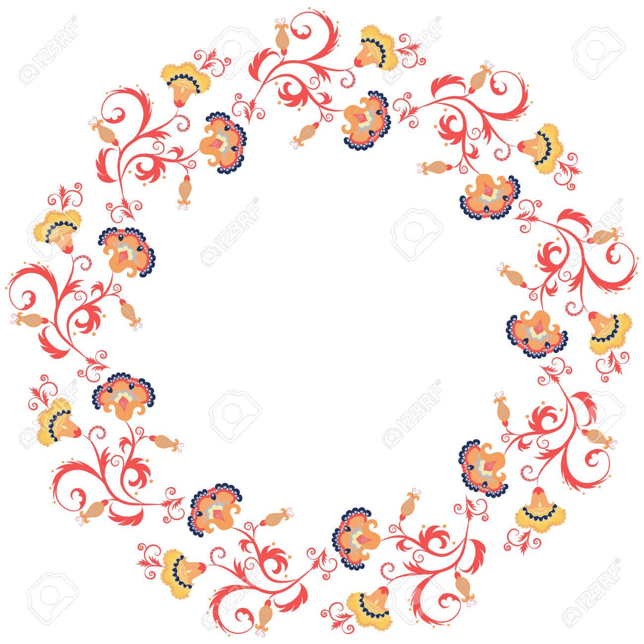 Oriental floral border design element asian or eastern style flower oriental floral border design element asian or eastern style flower frame on white background kristyandbryce Image collections