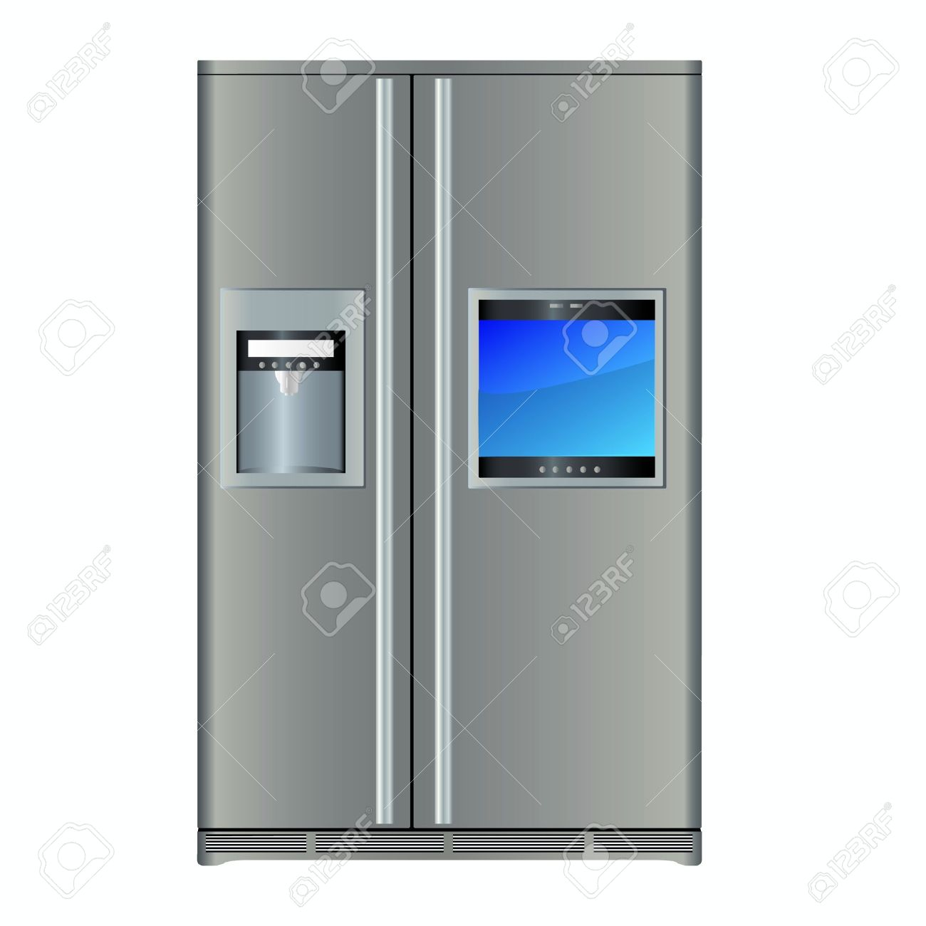 Modern Refrigerators With Built In TV Stock Vector   13205062