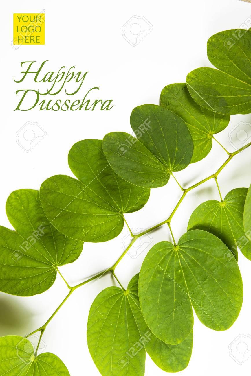 Indian festival dussehra showing golden leaf with traditional indian festival dussehra showing golden leaf with traditional indian sweets pedha in silver bowl m4hsunfo