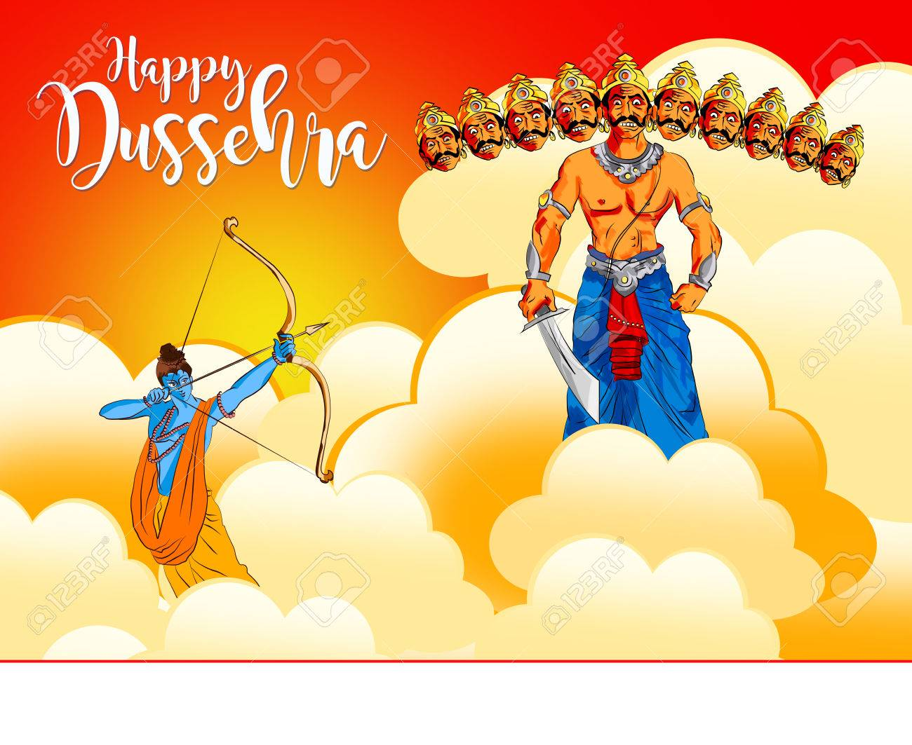 Antique stock illustration of happy dussehra greeting card antique stock illustration of antique stock illustration of happy dussehra greeting card m4hsunfo