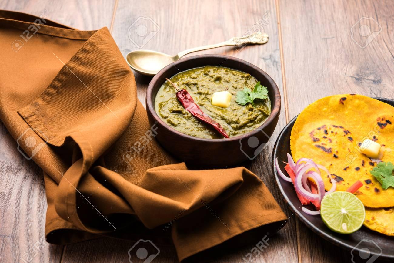 Sarson ka saag makki ki roti popular north indian main course sarson ka saag makki ki roti popular north indian main course menu usually prepared in winter forumfinder Images