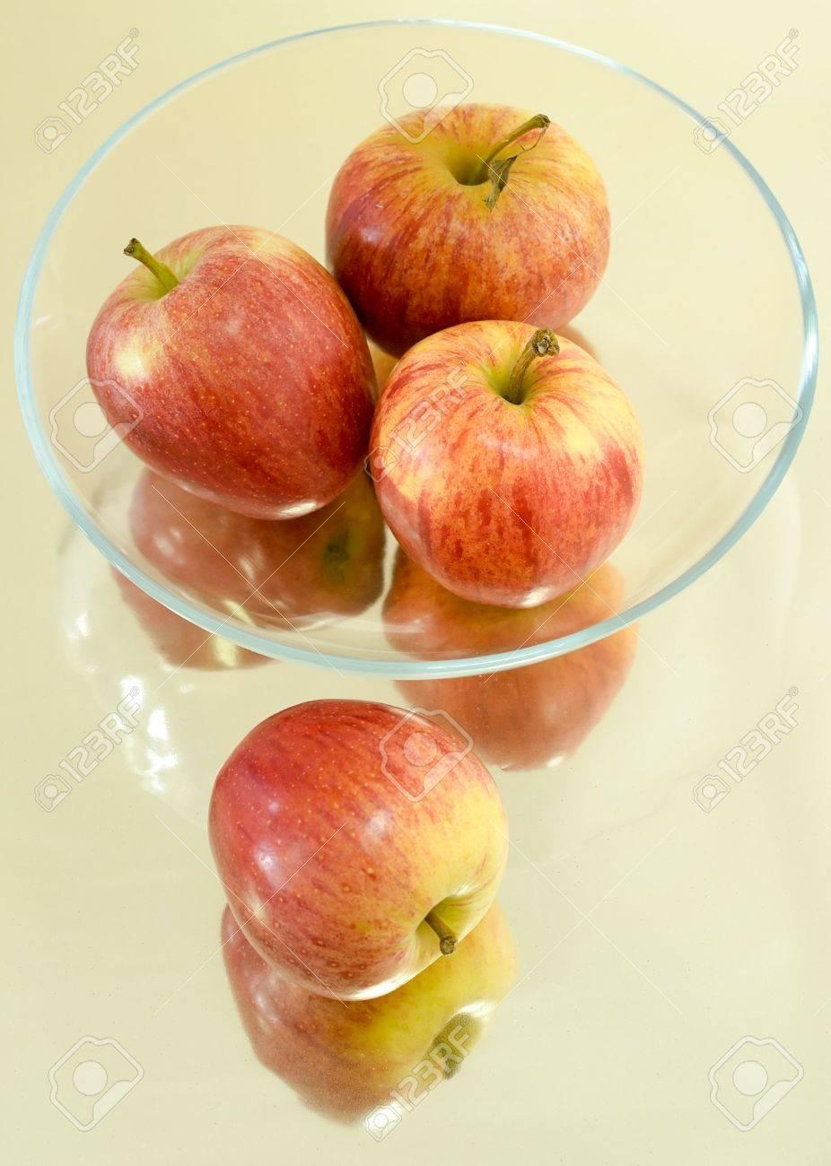Glasses Apple Apples in Glass Bowl