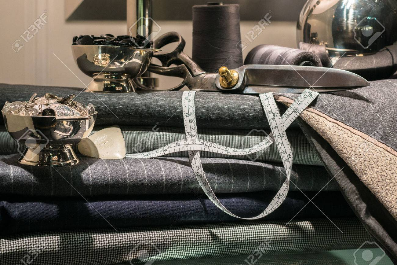 Still Life of Tailor's Shop with Tools of the Trade and Cloth - 34440172
