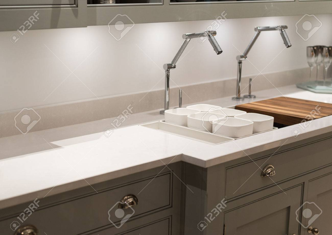 modern and contemporary kitchen with avant garde faucet taps stock photo 40925990 avant garde faucet