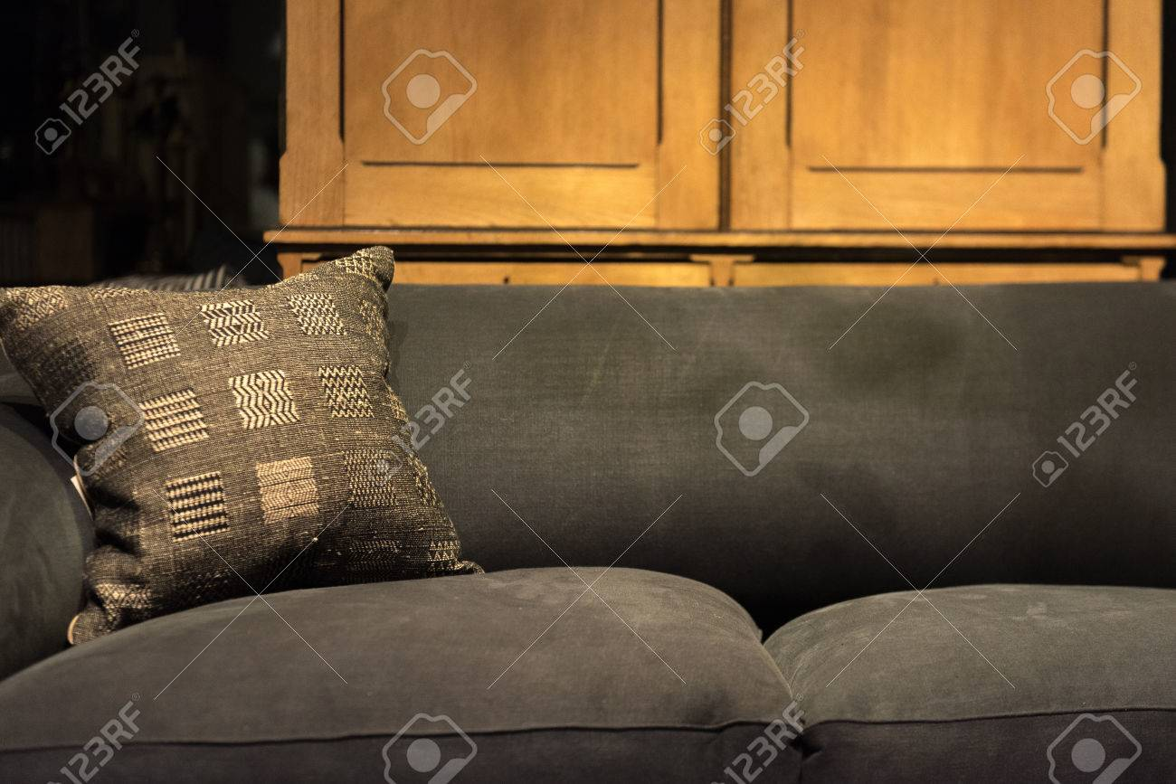 Worn And Stained Couch Wth Threadbare Cushion Stock Photo, Picture ...