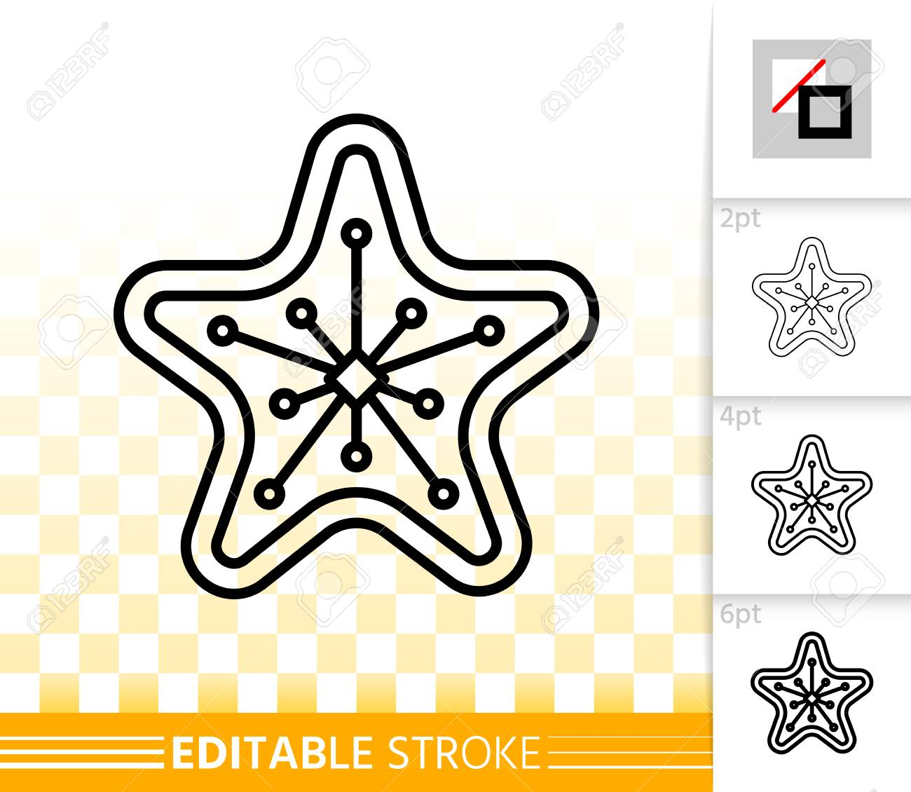 Gingerbread Cookie Thin Line Icon Outline Sign Of Star Christmas