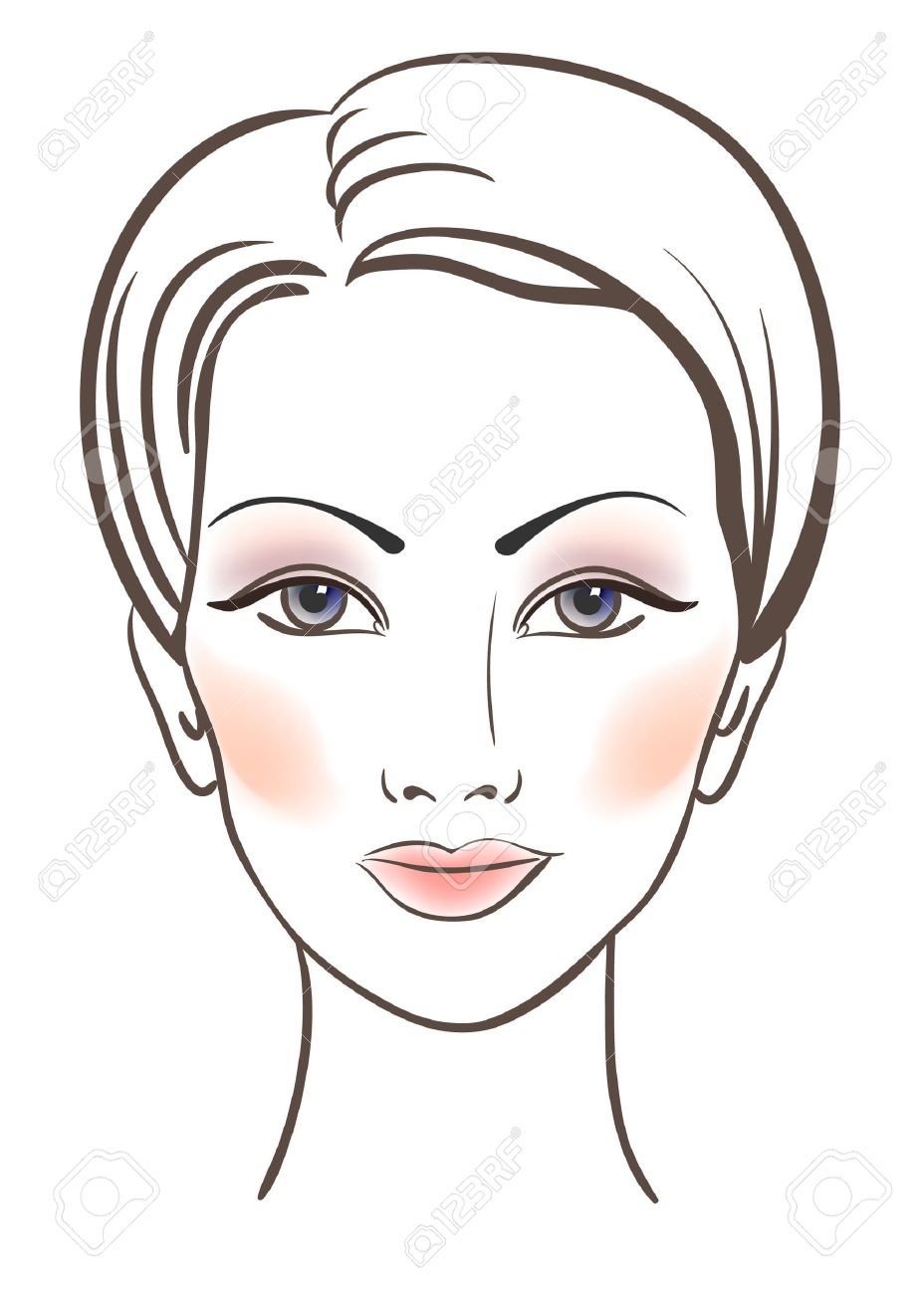 Photo Beauty Women Face With Makeup Illustration Jpg 928x1300 Human Girl  Face Drawings How To Make