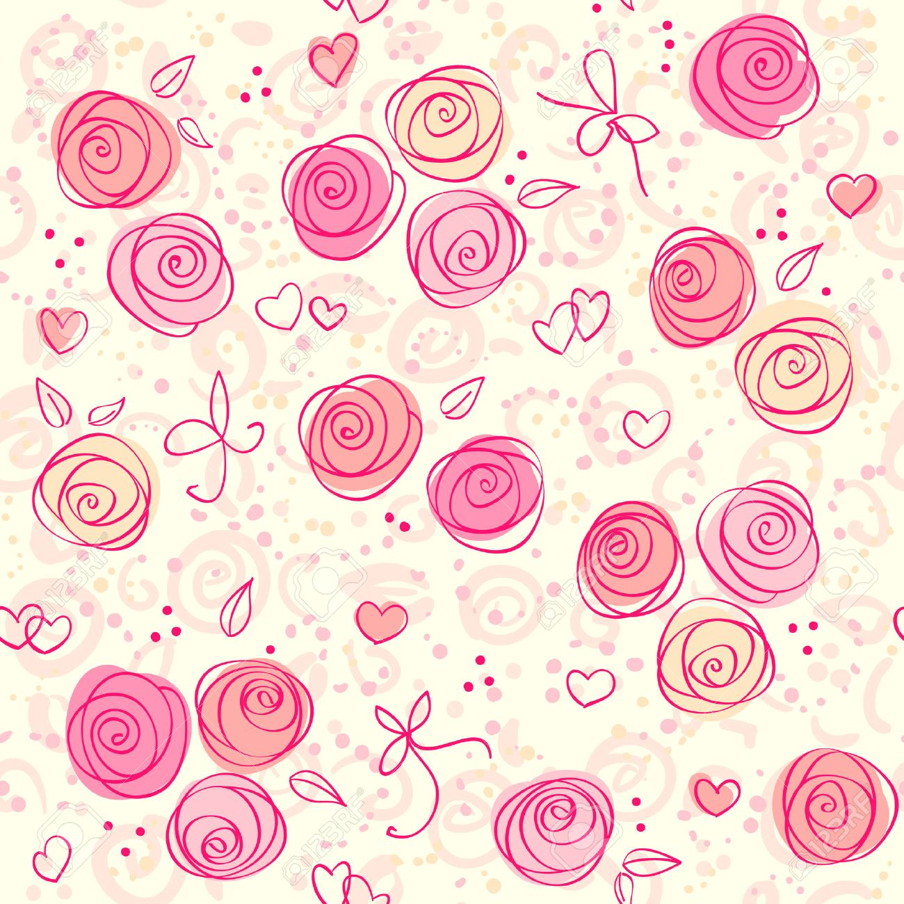 Pink Rose Wallpaper Pattern Seamless