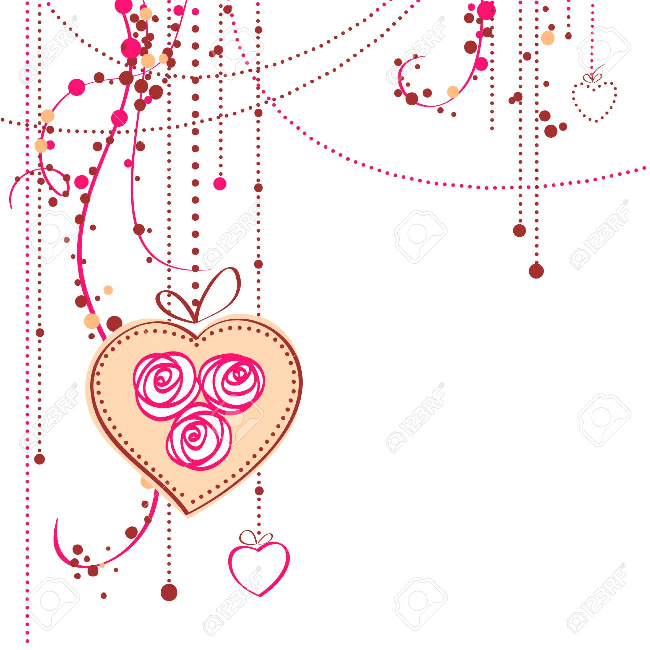 Valentine's day card vector illustration Stock Vector - 8618162