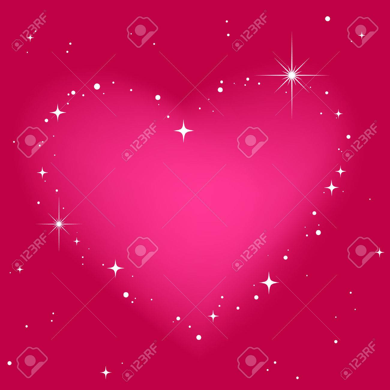 Star heart in pinkt sky Stock Vector - 8930967