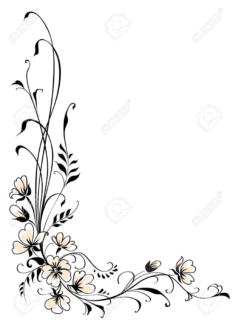 Floral background pink flower vector Stock Vector - 9392053