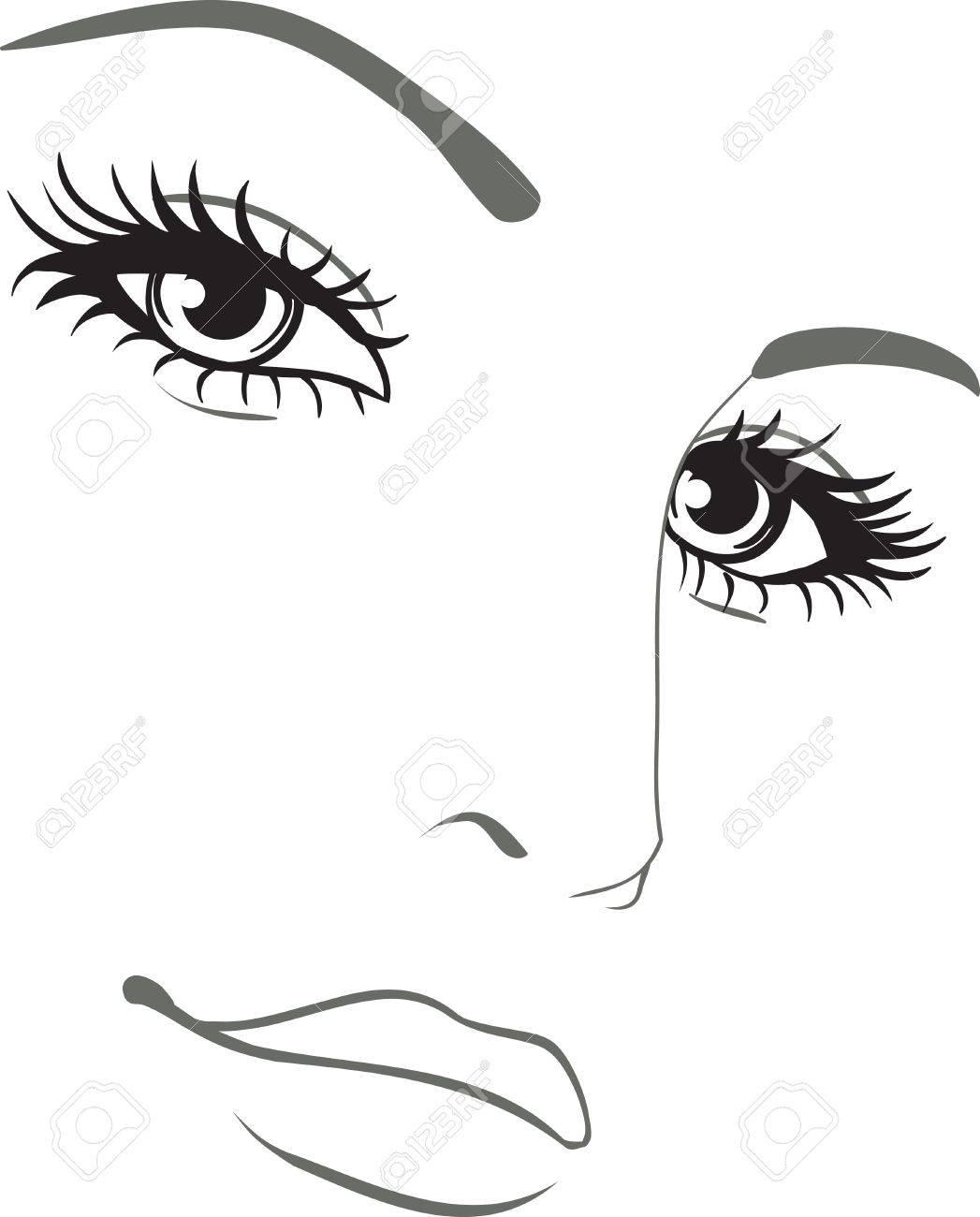 beautiful woman face portrait Stock Vector - 10769604