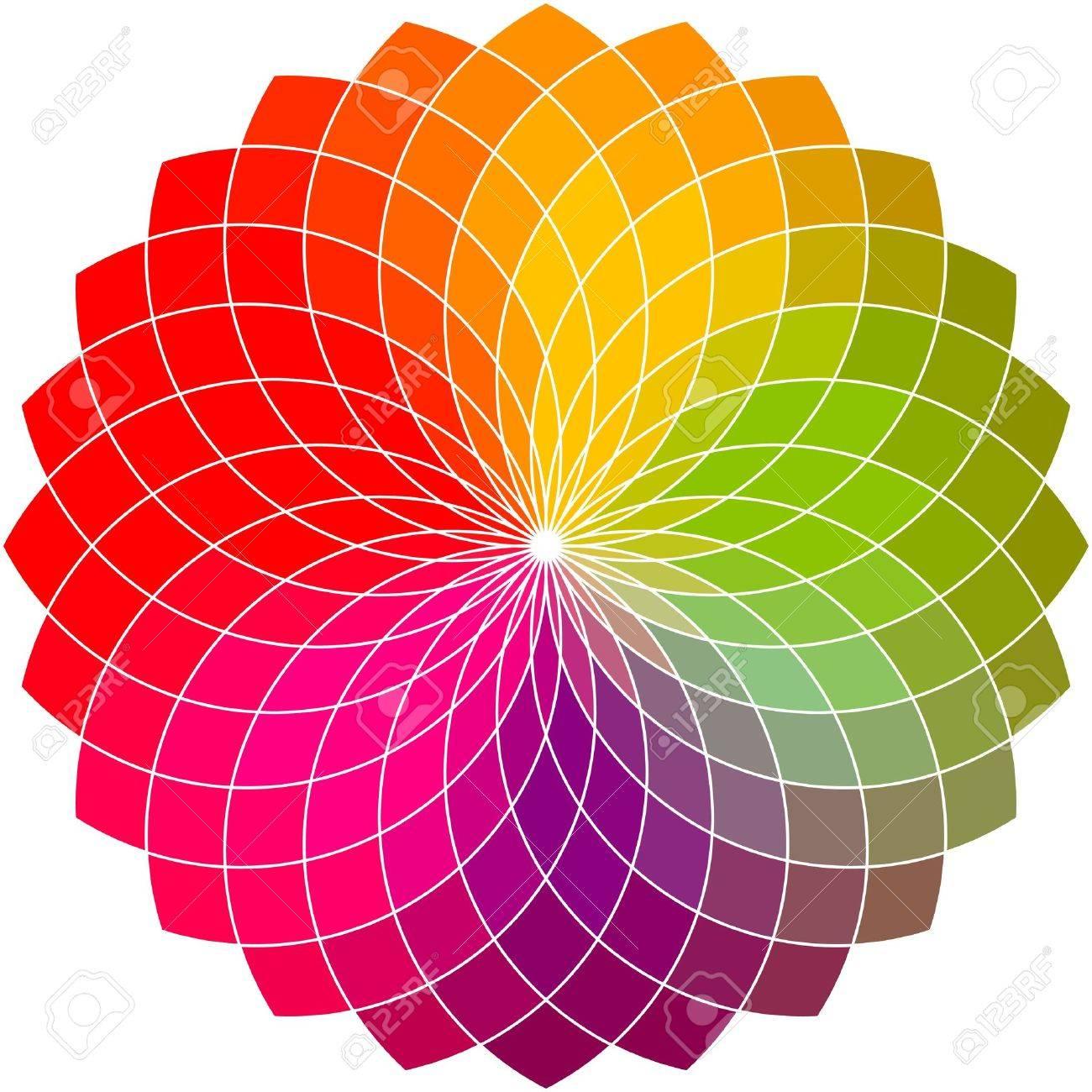 Color flower vector wheel - 11272394