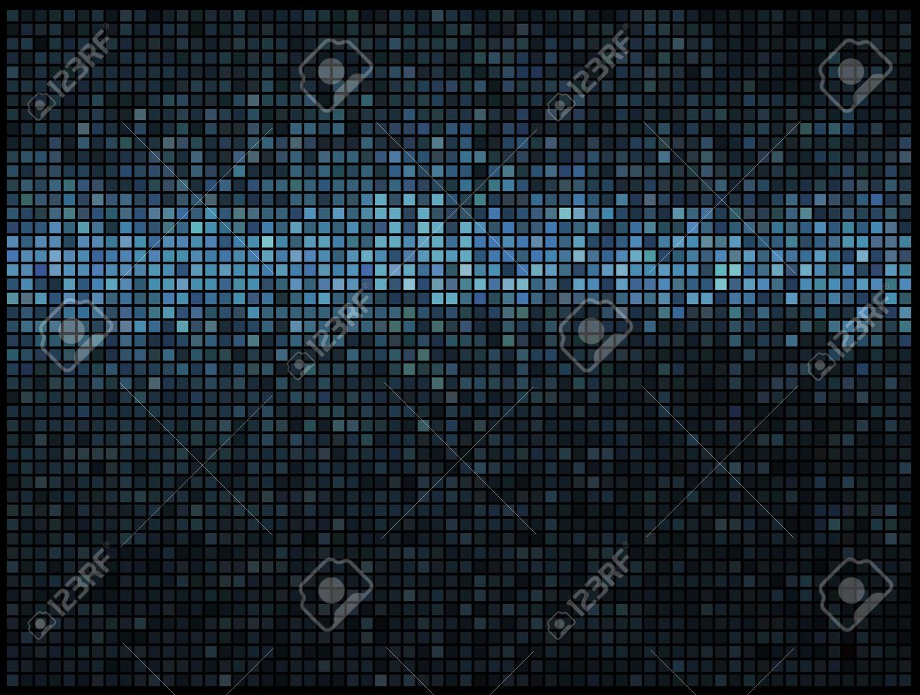 Multicolor abstract lights blue disco background. Square pixel mosaic vector Stock Vector - 11585981