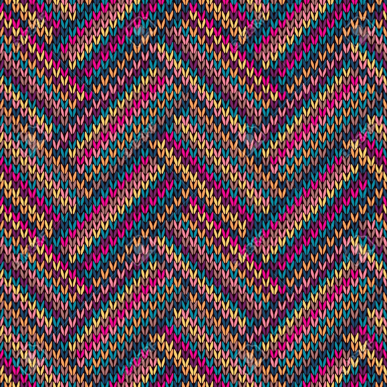 Multicolored Seamless Funny Knitted Pattern Royalty Free Cliparts ...