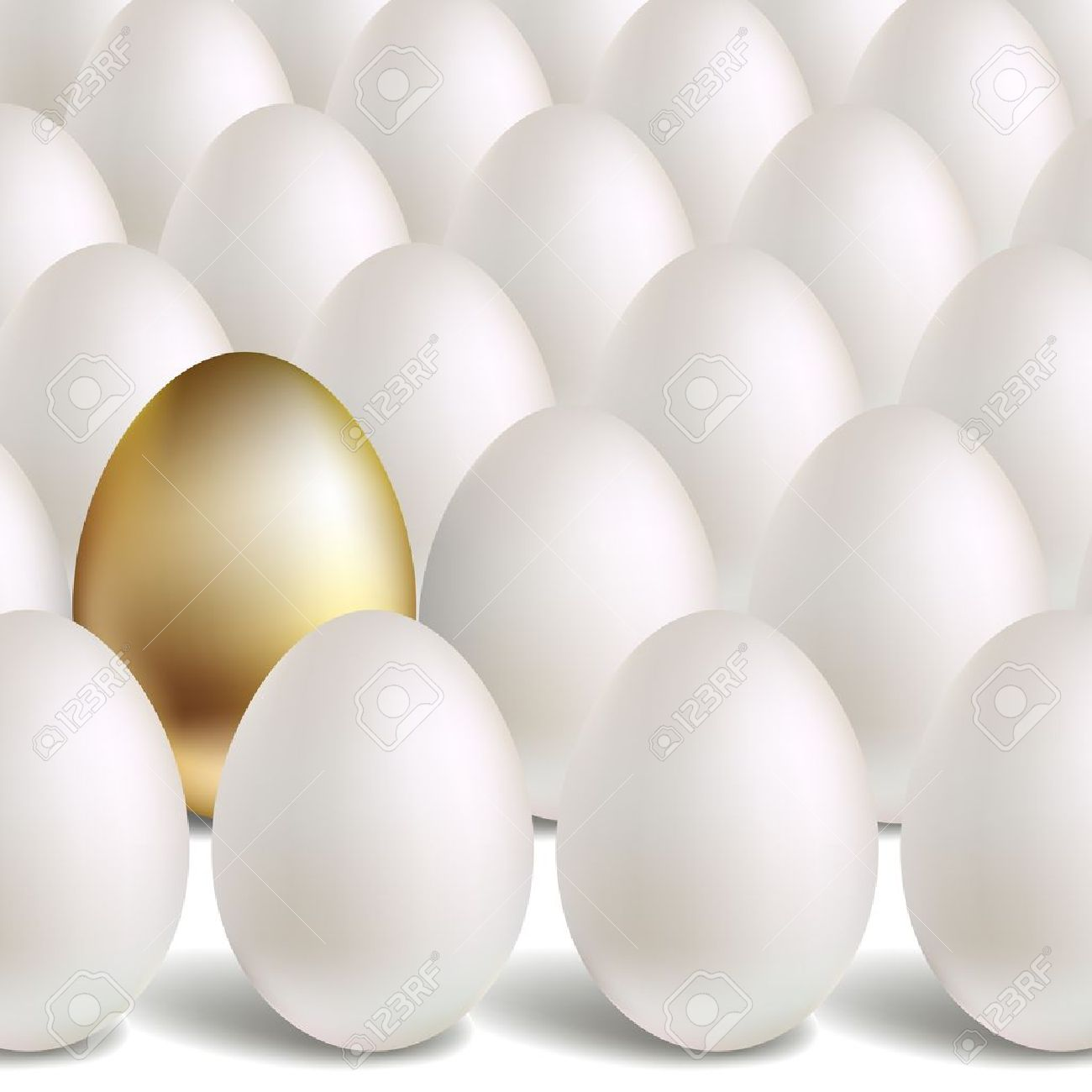 White And Unique Golden Eggs Stock Vector 14799969