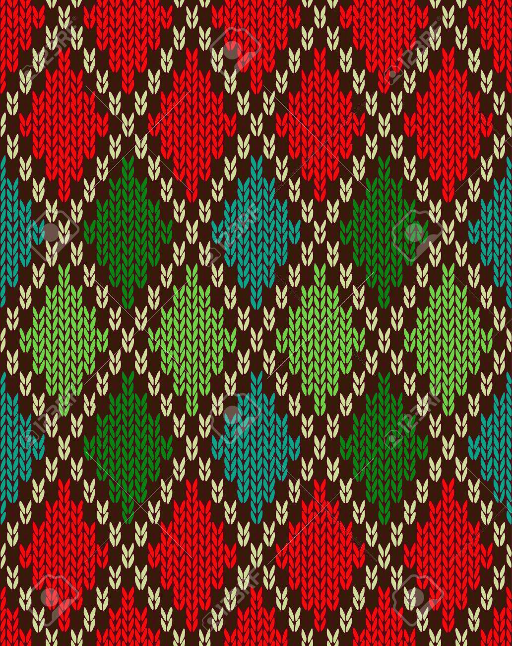 nahtlose weihnachten muster gestrickt artknit wolle jacquard ornament textur stoff farbe mawerk hintergrund standard bild - Jacquard Muster