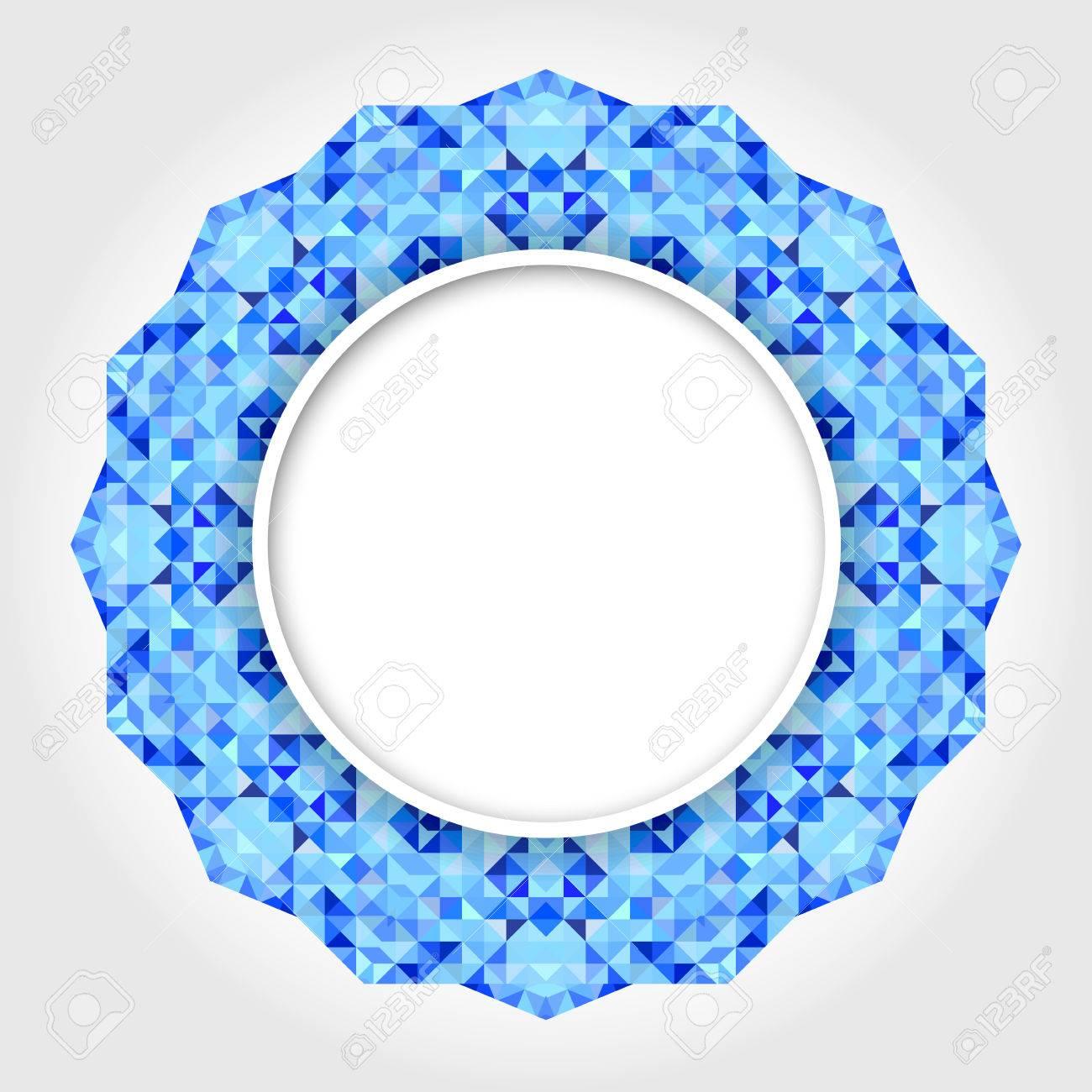Abstrakte Weiße Runde Rahmen Mit Blue Digital Border Lizenzfrei ...