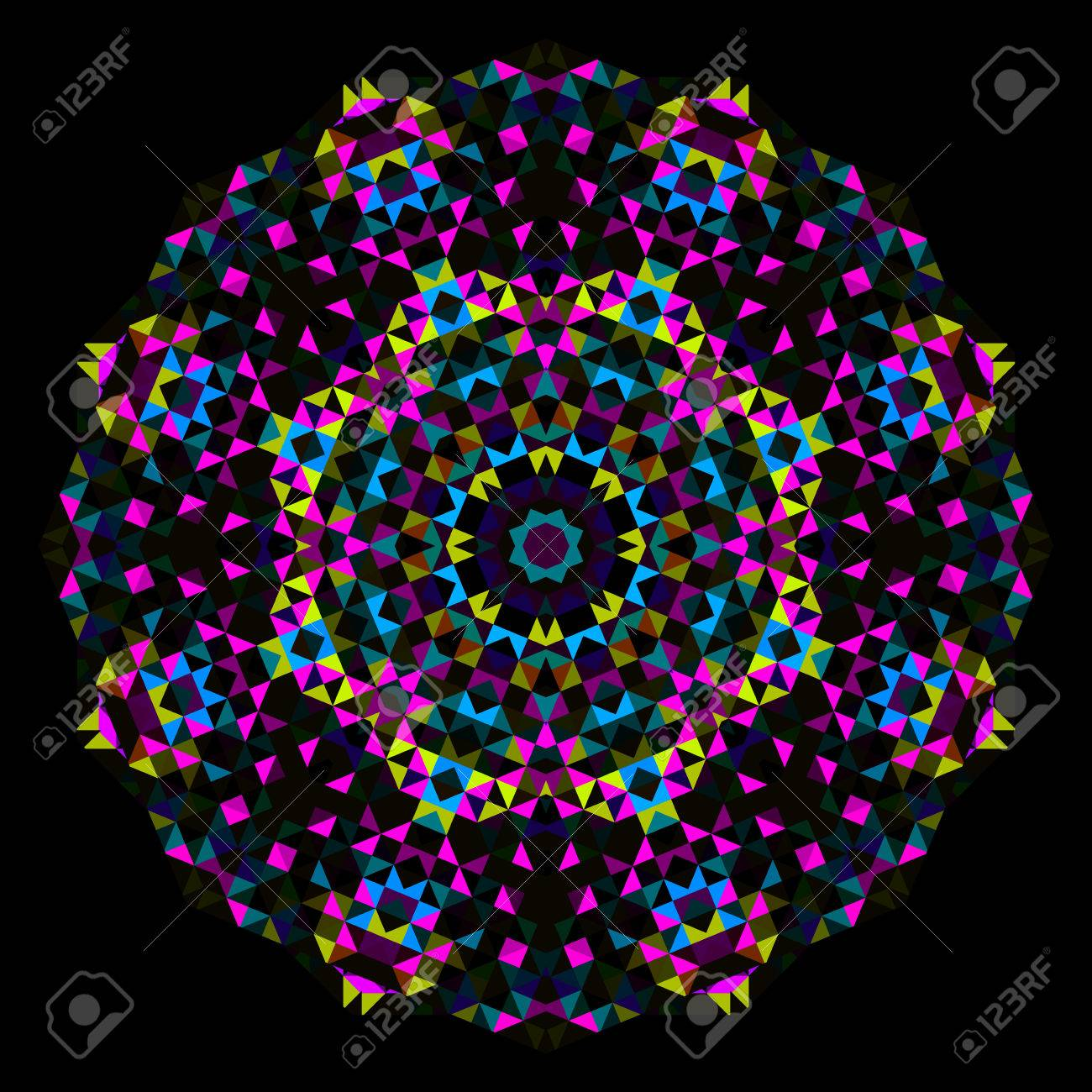 Abstract Flower Creative Colorful Style Vector Wheel Cyan Magenta
