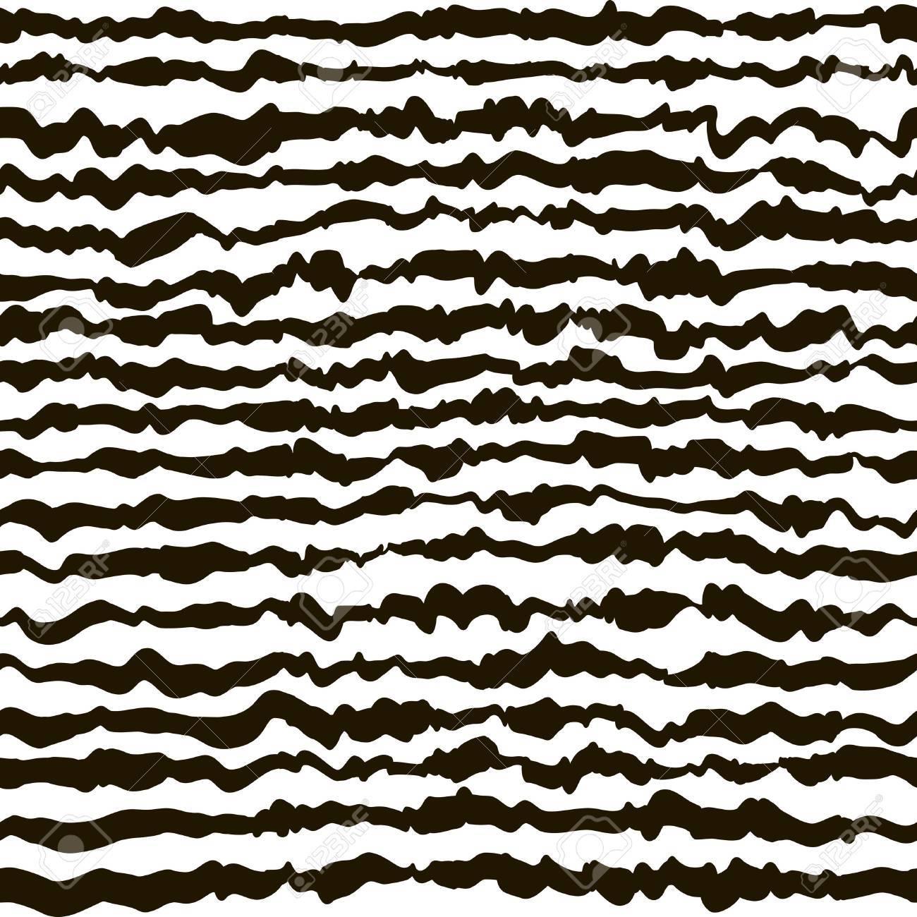 Schwarz Weiß Hand Zeichnen Nahtlose Vektor Muster Wilde Abstrakte