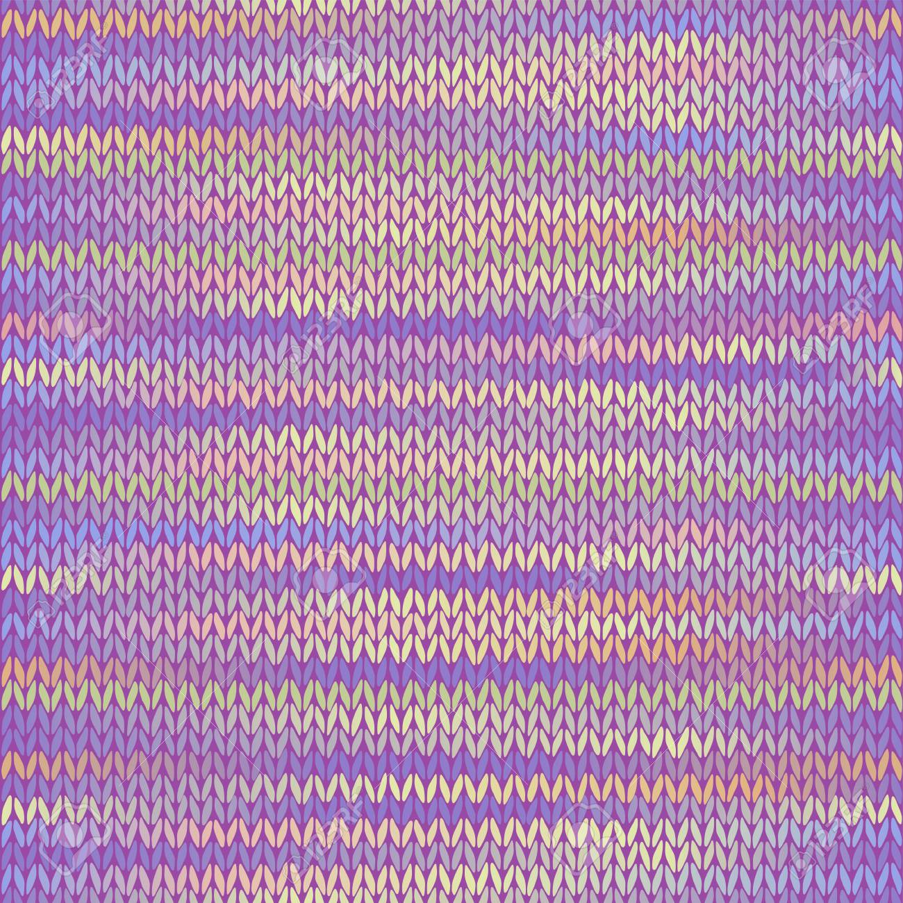 Style Seamless Tricote A Capuche Rose Lilas Couleur Illustration