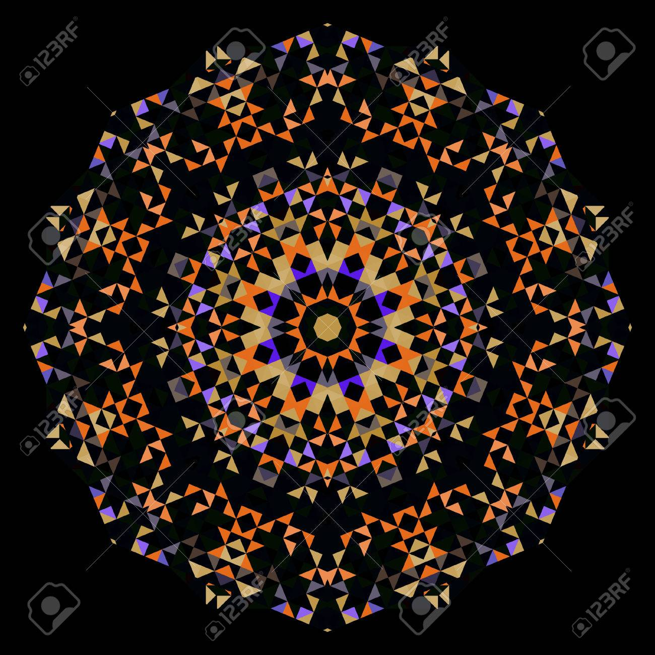Abstract Flower Creative Style Wheel Colorful Circle Geometric
