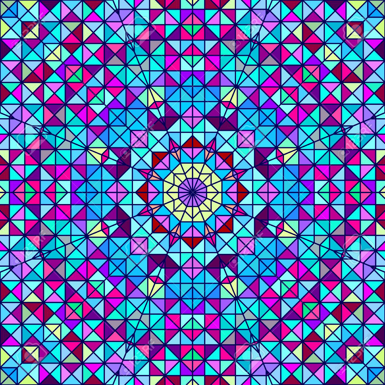 Resume Colorful Fleur Decorative Numerique Contraste Geometrique