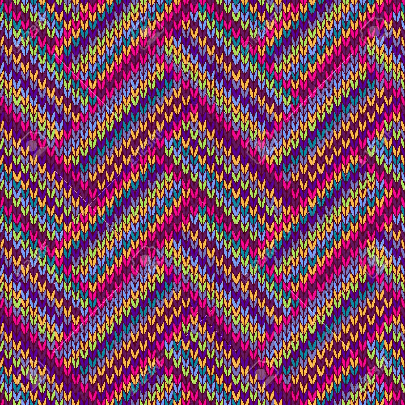 Funky Gestricktes Muster Frei Image - Decke Stricken Muster ...