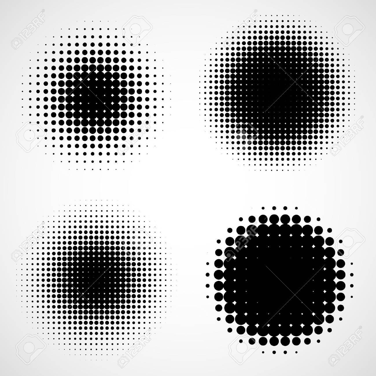 Fondos De Semitono Abstractos. Conjunto De Marco Moderno Elemento De ...