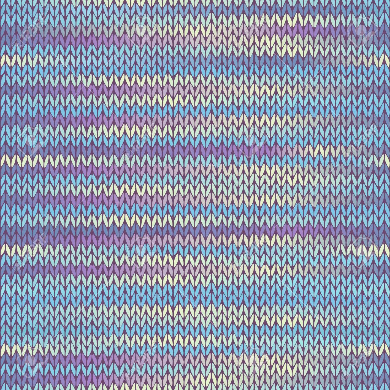 Seamless Tricotee Melange Couleur Rose Bleu Jaune Vector