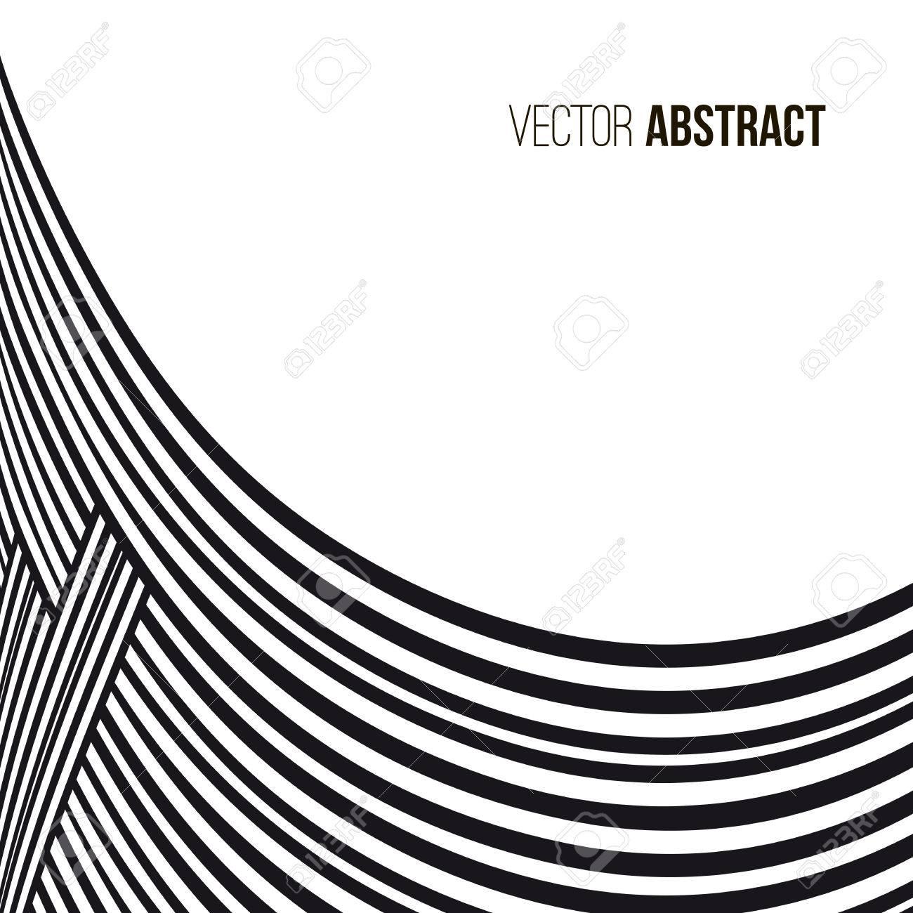 résumé historique lignes de courbe noir et blanc avec cadre pour