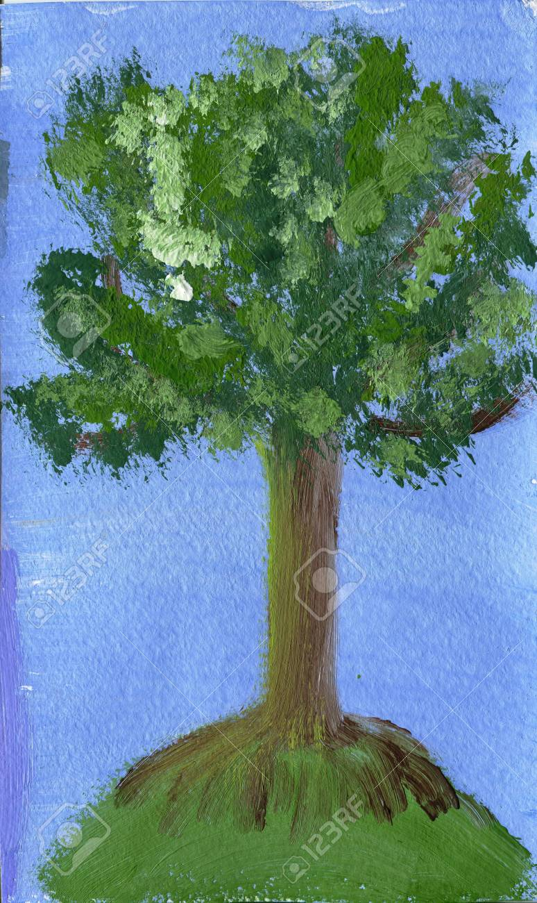 draw a tree Stock Photo - 17992578