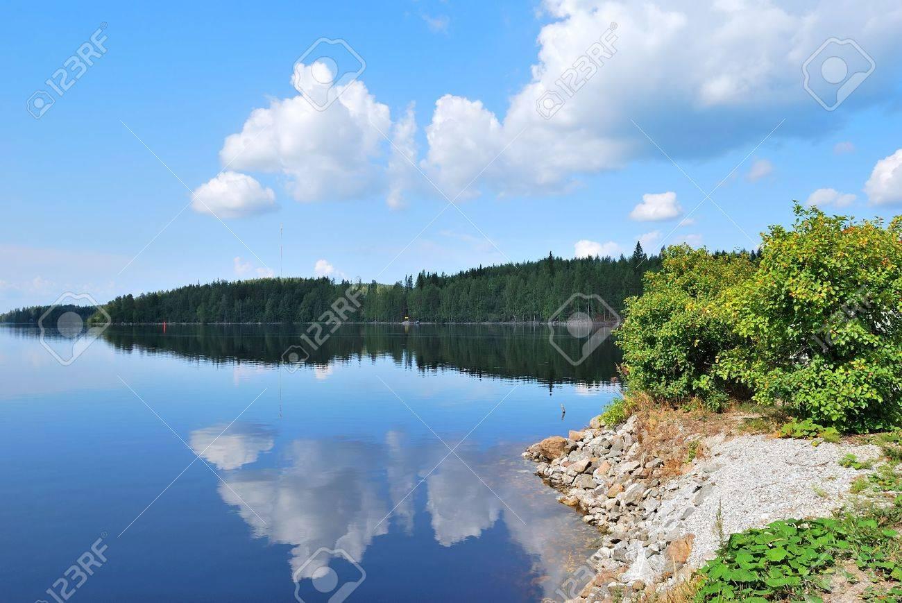 Very beautiful lake in the Reserve Kolovesi. Finland Stock Photo - 7857004
