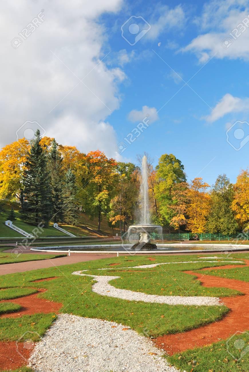 St. Petersburg. Beautiful  regular Lower Park in Peterhof Stock Photo - 23214444