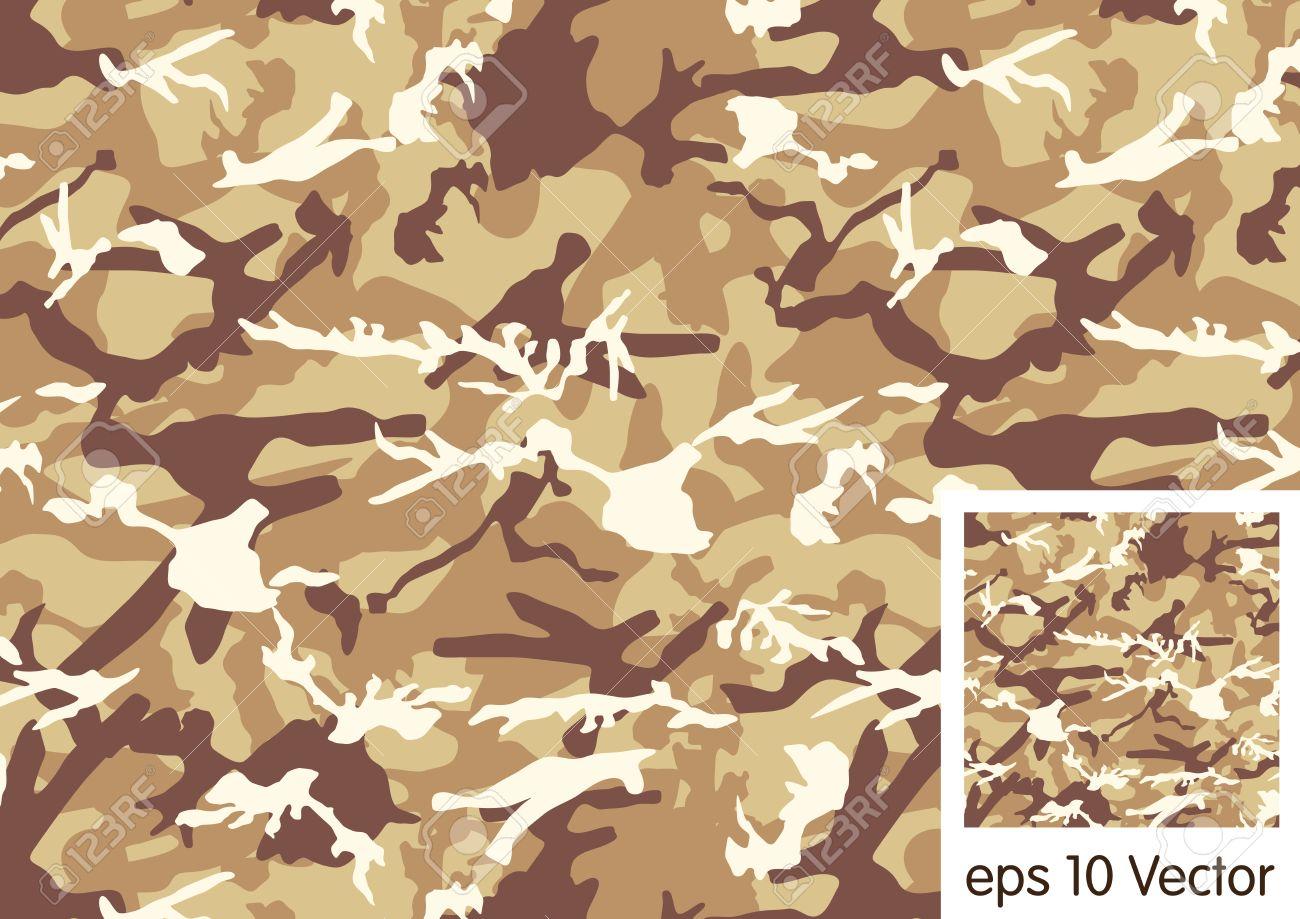 Desert Camouflage Pattern Stock Vector