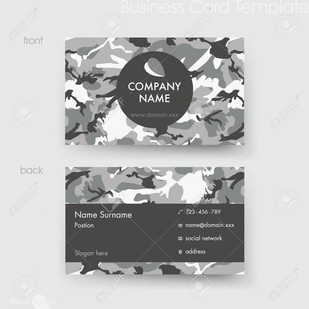 Camouflage pattern business card template royalty free cliparts camouflage pattern business card template stock vector 64659510 colourmoves