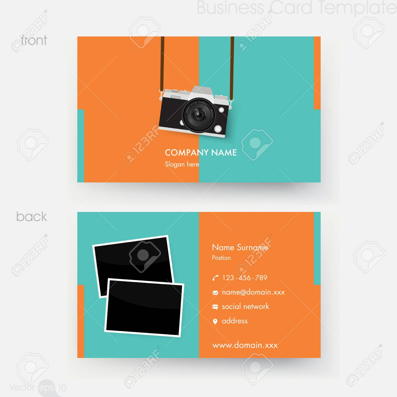 Photographer business card template royalty free cliparts vectors photographer business card template stock vector 67424731 reheart Image collections