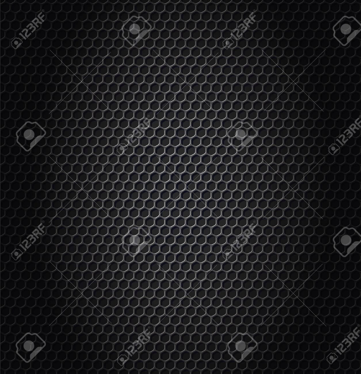 hexagon metallic texture Vector illustration. - 93845780