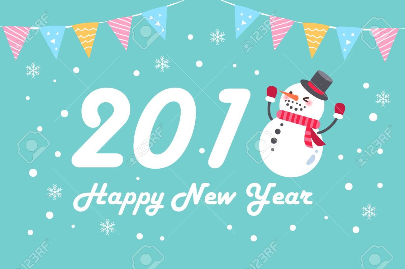 dessin joyeux noel 2018 2018 Bonhomme De Neige Dessin Animé Joyeux Noël Sur Le Fond Bleu  dessin joyeux noel 2018