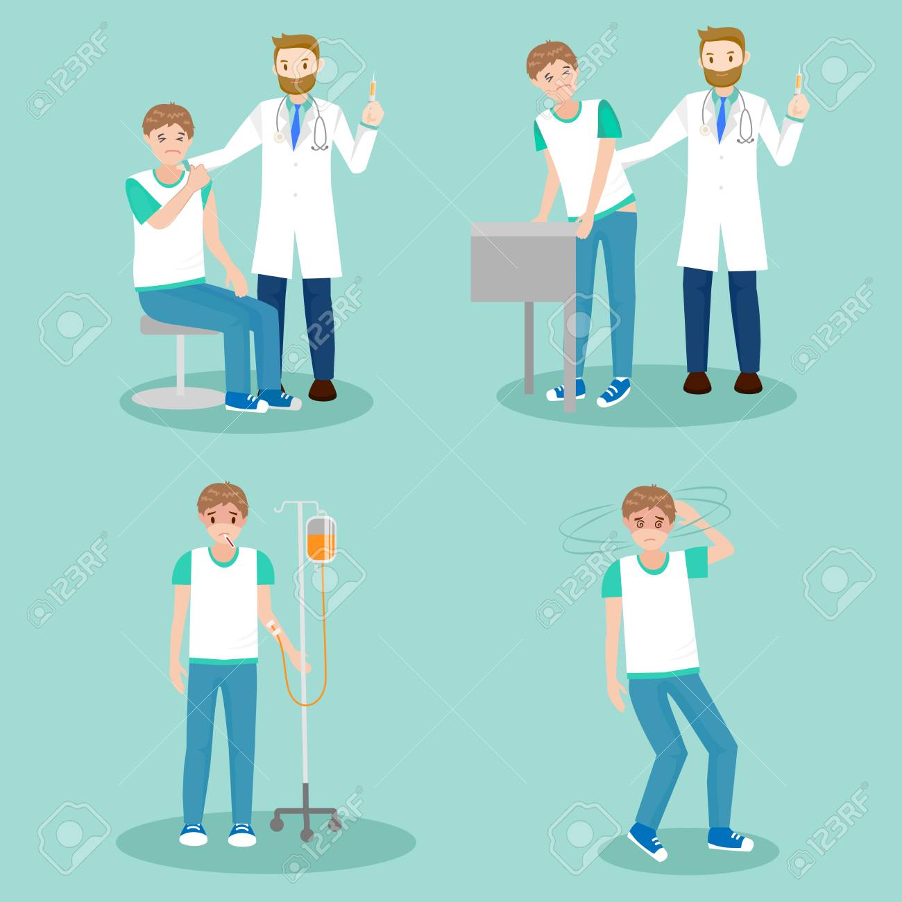 cartoon doctor with patient vector set royalty free cliparts vectors and stock illustration image 90315061 123rf com