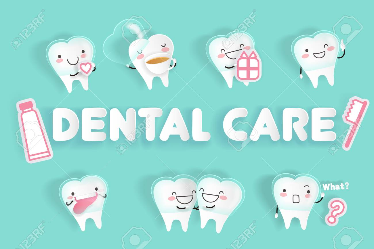 Tooth Wear Invisible Braces With Dental Care On The Green Background ...