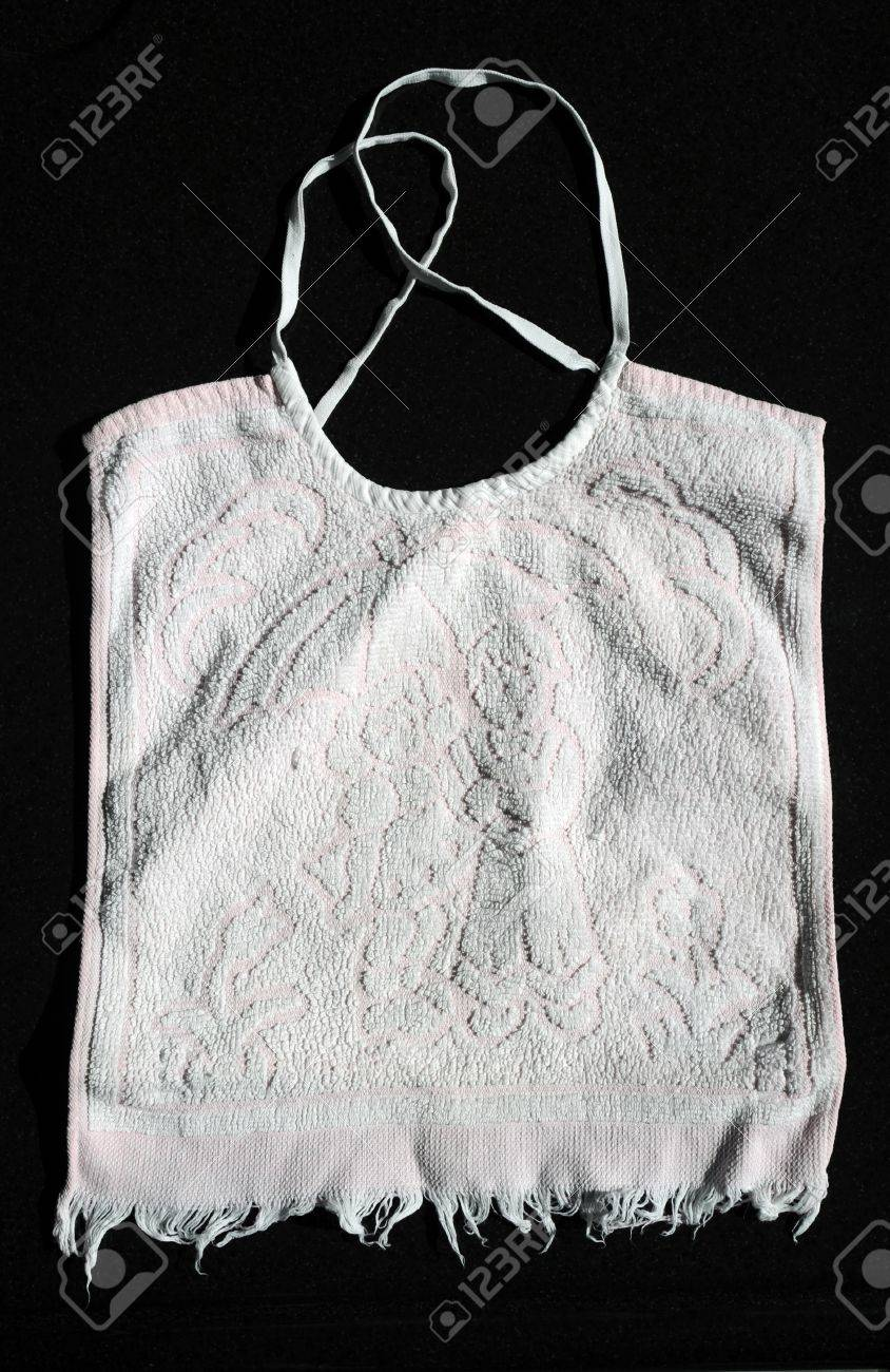 Vintage Baby Bib With Fringe Stock Photo, Picture And Royalty Free ...
