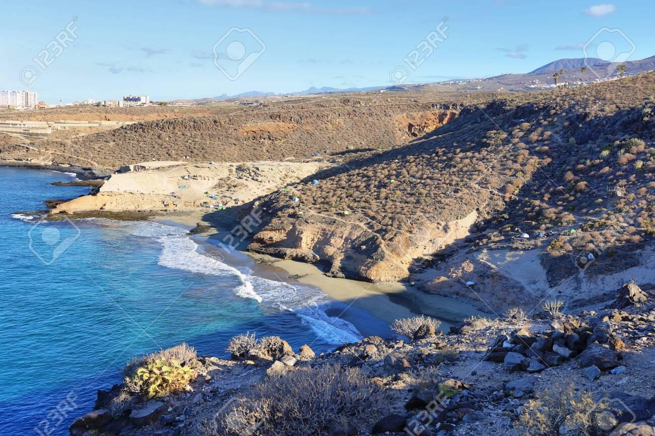 Diego Hernandez beach in Adeje, Tenerife, Canary islands, Spain - 150031795