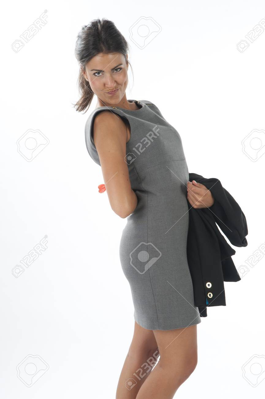 Happy young business executive woman, looking at camera with loly pop. Stock Photo - 14429863