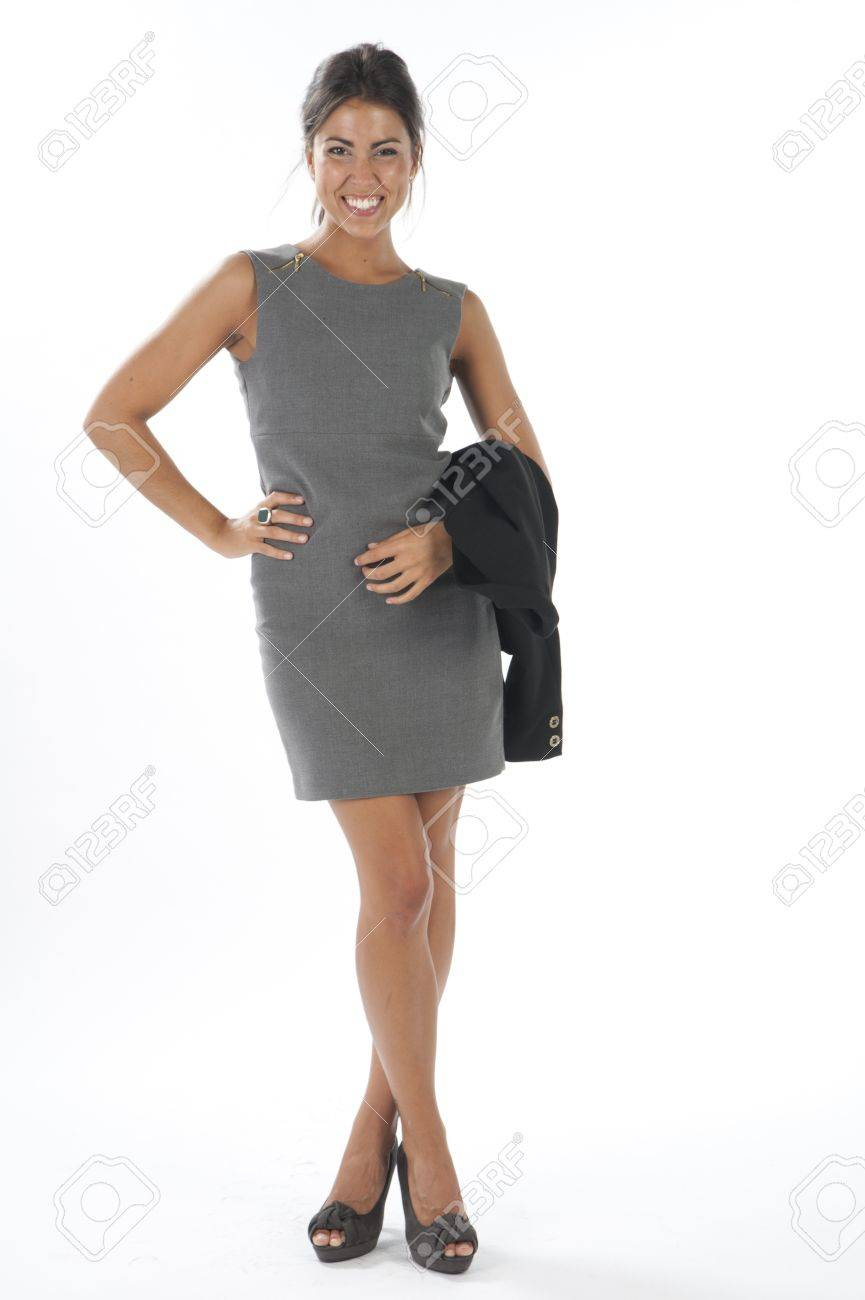 Self confident young and elegant business executive, on white, looking at camera. Stock Photo - 14429696