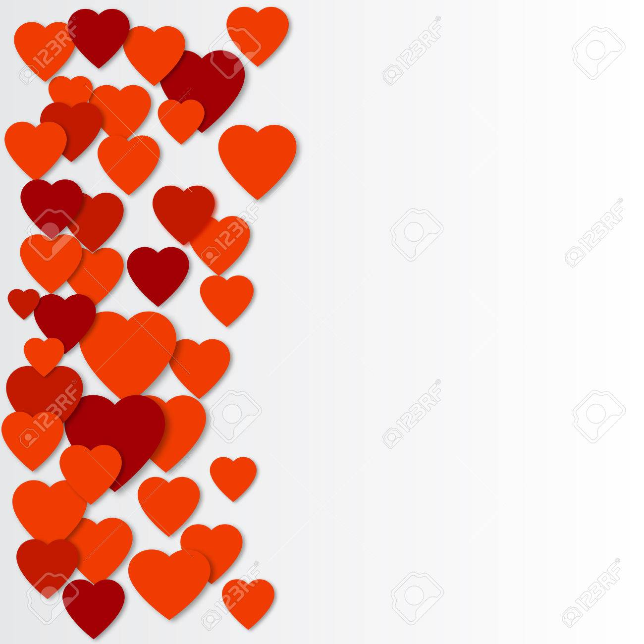 bright red paper hearts vector background vector hearts collage