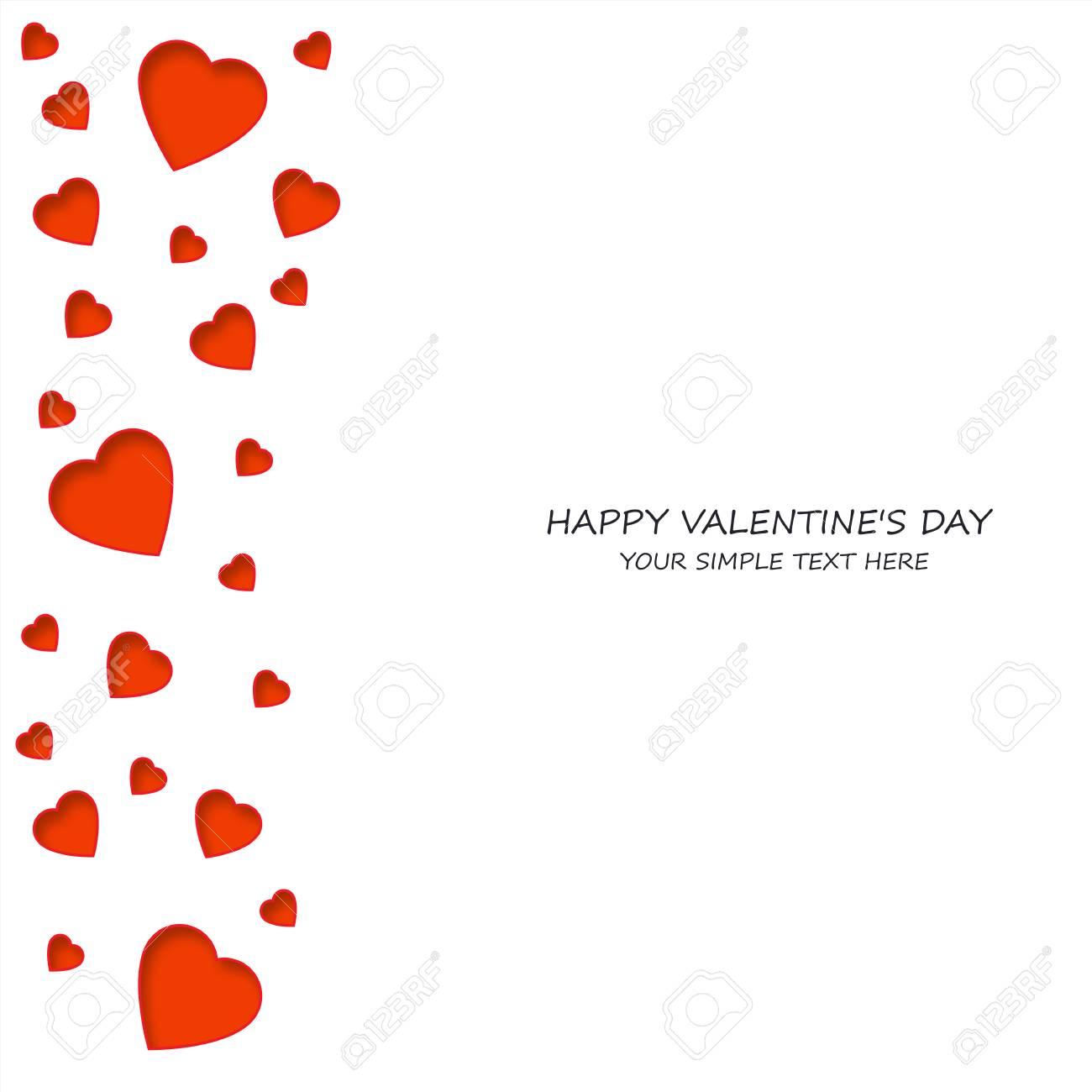 Helle Bunte Papier Herzen Vektor Hintergrund. Vector Hearts Valentine.  Hochzeit, Jubiläum, Geburtstag