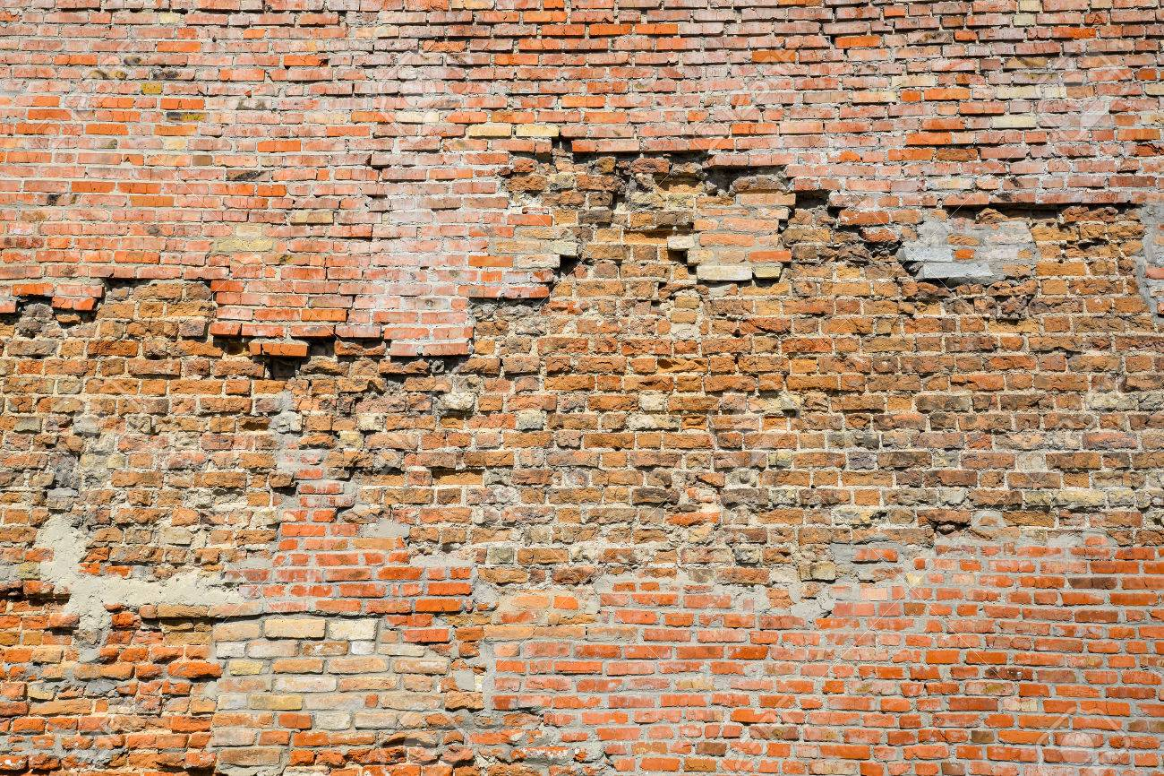 Old Brick Wall Photo Background Close Up High Resolution Red