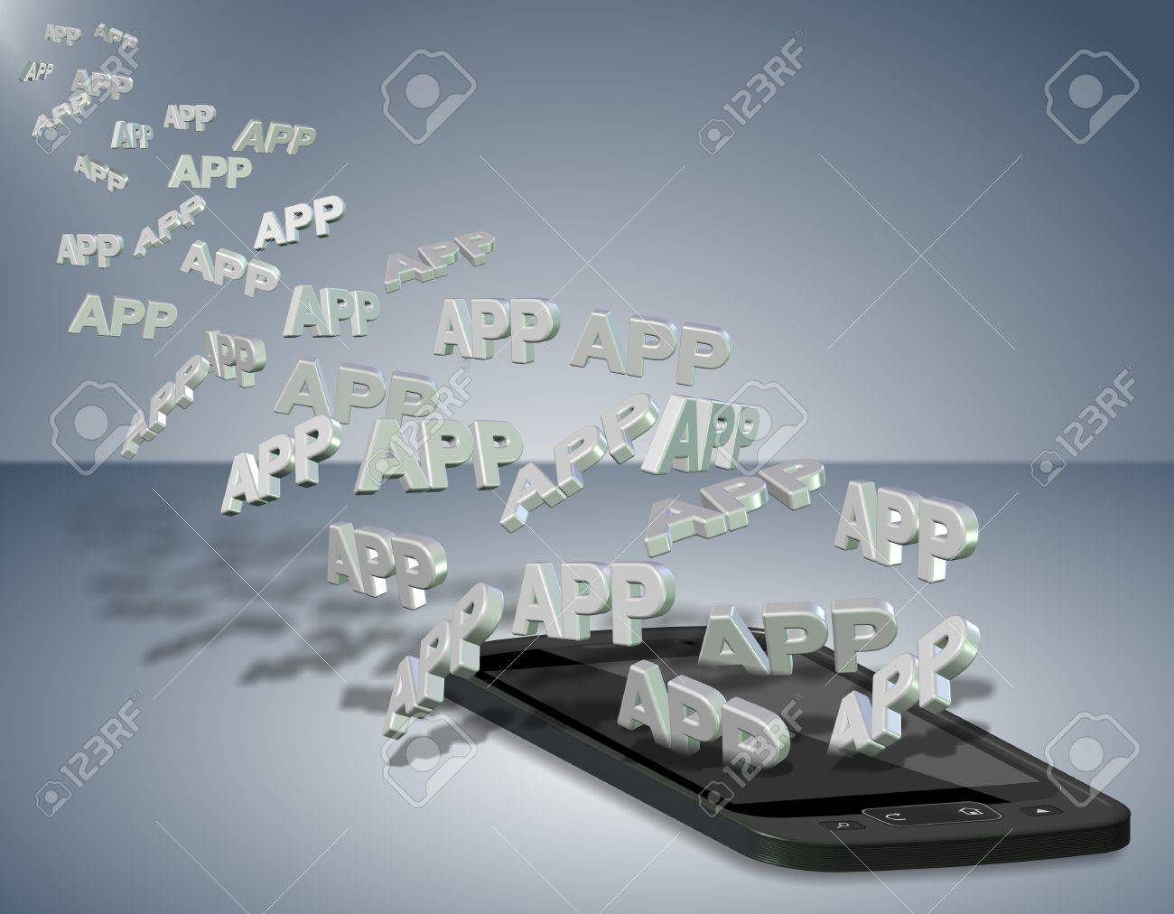 A number of words spelling app going into a mobile phone